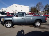 2013 Blue Granite Metallic Chevrolet Silverado 1500 Work Truck Regular Cab 4x4 #78214420