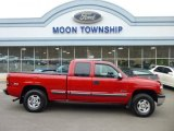 2002 Victory Red Chevrolet Silverado 1500 LS Extended Cab 4x4 #78214000