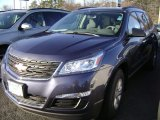 2013 Atlantis Blue Metallic Chevrolet Traverse LS AWD #78213741