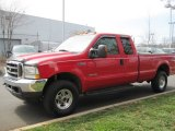 2003 Red Clearcoat Ford F250 Super Duty Lariat SuperCab 4x4 #78214195