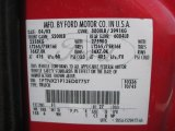 2003 F250 Super Duty Color Code for Red Clearcoat - Color Code: F1