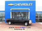 2013 Black Chevrolet Silverado 1500 LT Crew Cab 4x4 #78214175