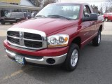 2006 Inferno Red Crystal Pearl Dodge Ram 1500 SLT Regular Cab 4x4 #78266095