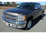 2013 Mocha Steel Metallic Chevrolet Silverado 1500 LT Crew Cab 4x4 #78266479
