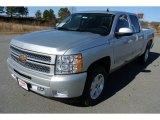2013 Silver Ice Metallic Chevrolet Silverado 1500 LT Crew Cab 4x4 #78266470