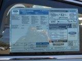 2013 Ford Fusion Energi SE Window Sticker