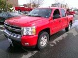 2007 Victory Red Chevrolet Silverado 1500 LTZ Crew Cab 4x4 #78266226