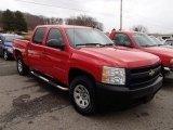2007 Victory Red Chevrolet Silverado 1500 Work Truck Crew Cab 4x4 #78266146