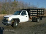2006 Summit White Chevrolet Silverado 3500 Regular Cab 4x4 Stake Truck #78319669