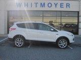 2013 White Platinum Metallic Tri-Coat Ford Escape Titanium 2.0L EcoBoost 4WD #78320092