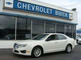 2010 White Suede Ford Fusion S #78374465