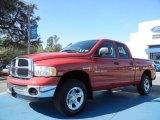 2004 Flame Red Dodge Ram 1500 SLT Quad Cab 4x4 #78374460