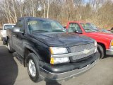 2004 Black Chevrolet Silverado 1500 LS Regular Cab #78374643