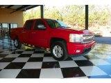 2007 Victory Red Chevrolet Silverado 1500 LTZ Crew Cab #78375564