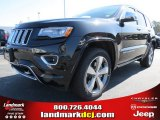 2014 Brilliant Black Crystal Pearl Jeep Grand Cherokee Overland 4x4 #78374566
