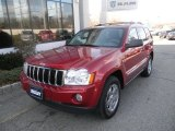 2006 Inferno Red Crystal Pearl Jeep Grand Cherokee Limited 4x4 #78374733