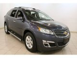 2013 Atlantis Blue Metallic Chevrolet Traverse LT #78374902