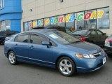 2007 Atomic Blue Metallic Honda Civic EX Sedan #78462036