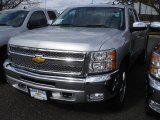 2013 Silver Ice Metallic Chevrolet Silverado 1500 LT Extended Cab 4x4 #78461132
