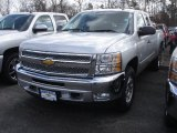 2013 Silver Ice Metallic Chevrolet Silverado 1500 LT Extended Cab 4x4 #78461131