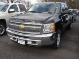 2013 Black Chevrolet Silverado 1500 LT Extended Cab 4x4 #78461130