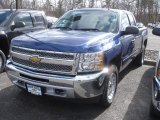 2013 Blue Topaz Metallic Chevrolet Silverado 1500 LT Extended Cab 4x4 #78461115