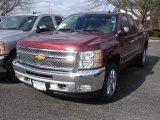 2013 Deep Ruby Metallic Chevrolet Silverado 1500 LT Extended Cab 4x4 #78461098