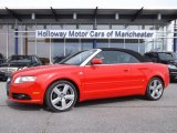 2008 Brilliant Red Audi A4 2.0T Cabriolet #78461648