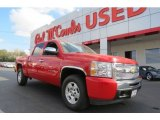 2009 Victory Red Chevrolet Silverado 1500 LT Z71 Crew Cab 4x4 #78523754