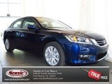 2013 Obsidian Blue Pearl Honda Accord EX-L Sedan #78523682