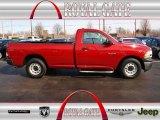 2010 Inferno Red Crystal Pearl Dodge Ram 1500 ST Regular Cab #78523715