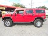 2004 Hummer H2 Red Metallic