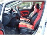 2013 Ford Fiesta Titanium Sedan Race Red Leather Interior