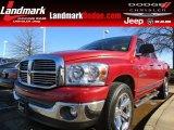 2007 Inferno Red Crystal Pearl Dodge Ram 1500 SLT Quad Cab #78584726