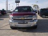 2013 Deep Ruby Metallic Chevrolet Silverado 1500 LT Crew Cab #78585090