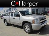 2008 Silver Birch Metallic Chevrolet Silverado 1500 LT Extended Cab 4x4 #78584472
