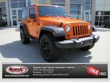 2012 Crush Orange Jeep Wrangler Sport 4x4 #78585020