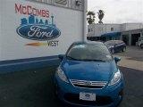 2013 Blue Candy Ford Fiesta SE Sedan #78640023
