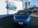 2013 Blue Candy Ford Fiesta SE Sedan #78698167