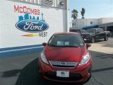 2013 Ruby Red Ford Fiesta SE Sedan #78698163