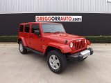 2012 Flame Red Jeep Wrangler Unlimited Sahara 4x4 #78698606