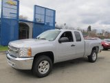 2013 Silver Ice Metallic Chevrolet Silverado 1500 LT Extended Cab 4x4 #78763882
