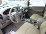 2013 Nissan Frontier SV V6 Crew Cab 4x4 Beige Interior