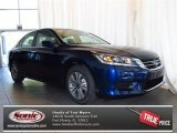 2013 Obsidian Blue Pearl Honda Accord LX Sedan #78763727