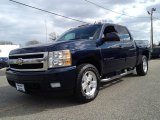 2008 Dark Blue Metallic Chevrolet Silverado 1500 LTZ Crew Cab 4x4 #78764383