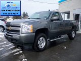 2011 Steel Green Metallic Chevrolet Silverado 1500 LT Regular Cab 4x4 #78763825