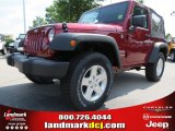 2012 Deep Cherry Red Crystal Pearl Jeep Wrangler Sport 4x4 #78763948