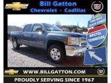 2013 Blue Granite Metallic Chevrolet Silverado 1500 LT Crew Cab 4x4 #78764486