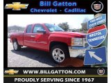 2013 Victory Red Chevrolet Silverado 1500 LT Extended Cab 4x4 #78764483