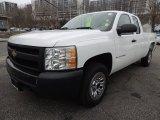 2008 Summit White Chevrolet Silverado 1500 Work Truck Extended Cab 4x4 #78763647